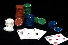 slags poker tre Royaltyfria Foton