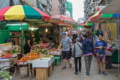 Slags solskydd för gatamarknad Arkivfoto