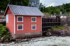 slags strömflodstation Werla (Verla) finland Royaltyfri Fotografi