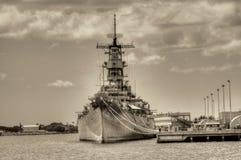 Slagschip Missouri stock afbeelding