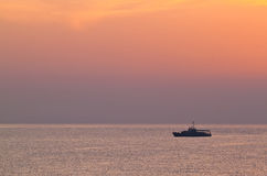 Slagschip over het overzees Royalty-vrije Stock Foto