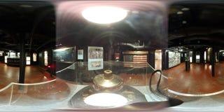 Slagschip USS Alabama, binnenlandse mening 360 VR Stock Foto's