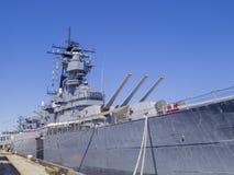 Slagschip USS Iowa royalty-vrije stock afbeeldingen