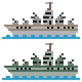 Slagskepp för illustrationPIXELkonst royaltyfri illustrationer