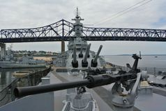 Slagskepp Massachusetts Arkivfoto