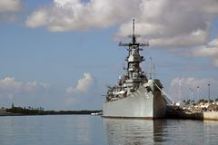 slagskepp missouri Royaltyfri Foto