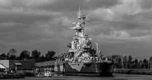 Slagskepp North Carolina, Wilmington, NC royaltyfri fotografi