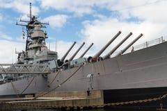 Slagskepp Wisconsin Arkivbild