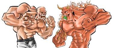 slagsmål stock illustrationer