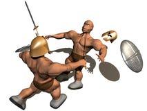 slagsmål 3d Arkivfoto
