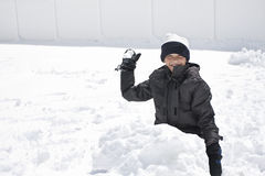 slagsmål kastar snöboll Royaltyfri Foto