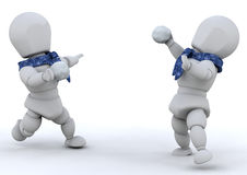 slagsmål kastar snöboll Arkivfoton
