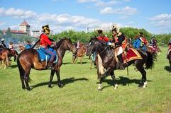 slagsmål napoleon royaltyfri bild