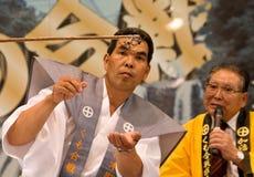 slagsmåldomarespindlar två som håller ögonen på Royaltyfri Bild
