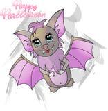 Slagträ för ljus illustration för tecknad film gulligt för halloween royaltyfri illustrationer