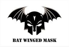 Slagträ påskyndad svart maskering krigare royaltyfri illustrationer