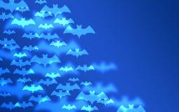 Slagträn på en blå bakgrund halloween royaltyfri fotografi