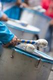 Slagwerker die voor Carnaval het openen van Salta, Argentinië uitvoeren stock foto's