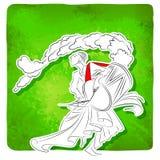 Slagwerker het spelen dhol in Durga Puja Stock Afbeeldingen