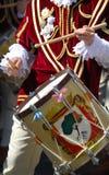 Slagwerkers en trompetters van Oristano Stock Foto's