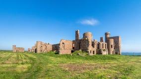 Slains城堡破坏英国苏格兰 库存图片