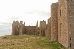 Slains Castle. North of Cruden Bay, Aberdeen Stock Photography