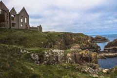 Slain`s Castle. Aberdeenshire, Scotland, UK. stock image