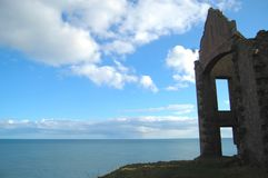 Slains Castle Ruin on Cliff Top, Aberdeenshire Royalty Free Stock Photos