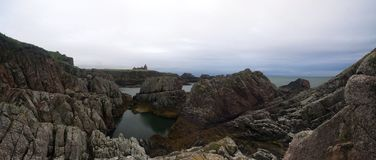 Slainskasteel Aberdeenshire, Schotland royalty-vrije stock fotografie