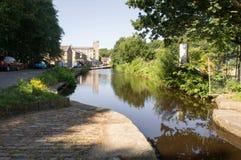 Slaithwaite kanal Royaltyfri Bild