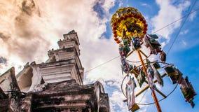 Slakpat. LAMPHUN THAILAND- SEPTEMBER 26 : Slakpat Lanna tradition at Wat Phra That Hariphunchai on September 26, 2015 in Lamphun, Thailand Stock Images