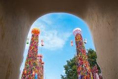 Slakpat. LAMPHUN THAILAND- SEPTEMBER 26 : Slakpat Lanna tradition at Wat Phra That Hariphunchai on September 26, 2015 in Lamphun, Thailand Stock Photos
