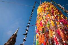 Slakpat. LAMPHUN THAILAND- SEPTEMBER 26 : Slakpat Lanna tradition at Wat Phra That Hariphunchai on September 26, 2015 in Lamphun, Thailand Royalty Free Stock Photos