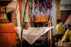 Slakpat. LAMPHUN THAILAND- SEPTEMBER 26 : Slakpat Lanna tradition at Wat Phra That Hariphunchai on September 26, 2015 in Lamphun, Thailand Royalty Free Stock Photo