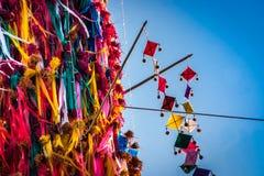 Slakpat. LAMPHUN THAILAND- SEPTEMBER 26 : Slakpat Lanna tradition at Wat Phra That Hariphunchai on September 26, 2015 in Lamphun, Thailand Royalty Free Stock Photography