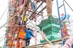Slakpat Lanna tradition at Wat Phra That Hariphunchai Stock Photo