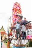 Slakpat Lanna tradition at Wat Phra That Hariphunchai Royalty Free Stock Photos