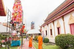 Slakpat Lanna tradition at Wat Phra That Hariphunchai Royalty Free Stock Photography