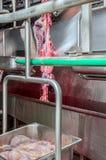 Slaktare i köttbranschinre Arkivbilder