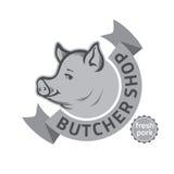 Slaktare Shop Logo vektor illustrationer
