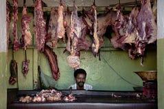 Slaktare shoppar i harar ethiopia Royaltyfri Bild