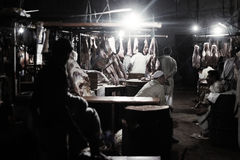 Slakthus i saddar bazzar Karachi Royaltyfri Fotografi