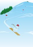 Slalom royalty-vrije illustratie