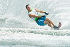 Slalom 2009 degli uomini della tazza di mondo di Putrajaya Waterski Immagini Stock Libere da Diritti
