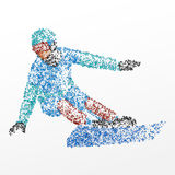 Slalom, abstraction, faisant du surf des neiges Images libres de droits