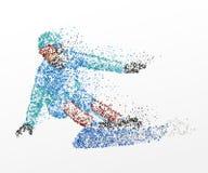 Slalom, abstraction, faisant du surf des neiges illustration de vecteur