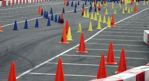 Slalom course Royalty Free Stock Photos