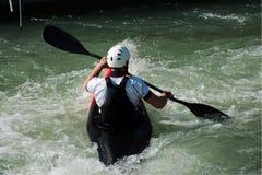 Slalom da canoa em Augsburg Imagens de Stock Royalty Free