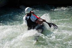 Slalom da canoa em Augsburg Imagem de Stock Royalty Free