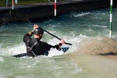 Slalom da canoa em Eiskanel em Augsburg Fotos de Stock